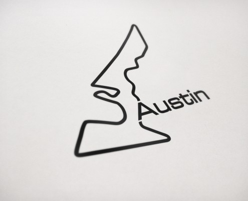 Austin race track Logo in black