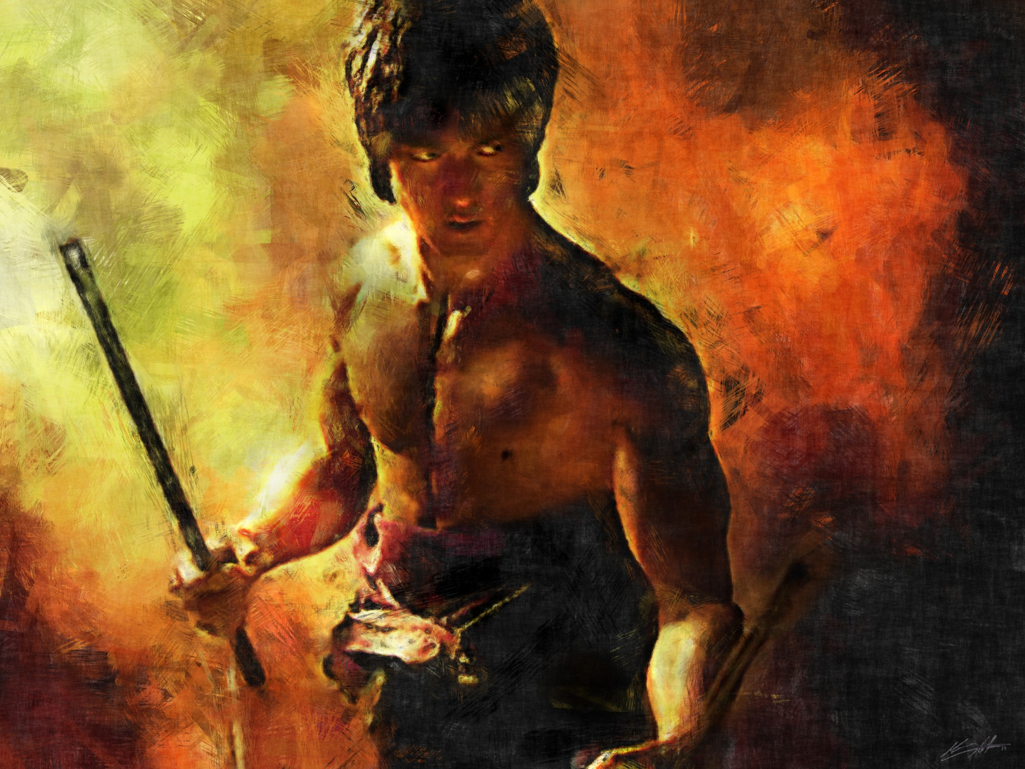 My biggest martial arts inspiration is now my latest digital painting inspiration.